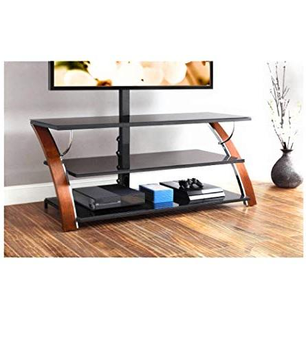 Whalen Payton Cherry 3-in-1 Panel TV Stand for TVs to