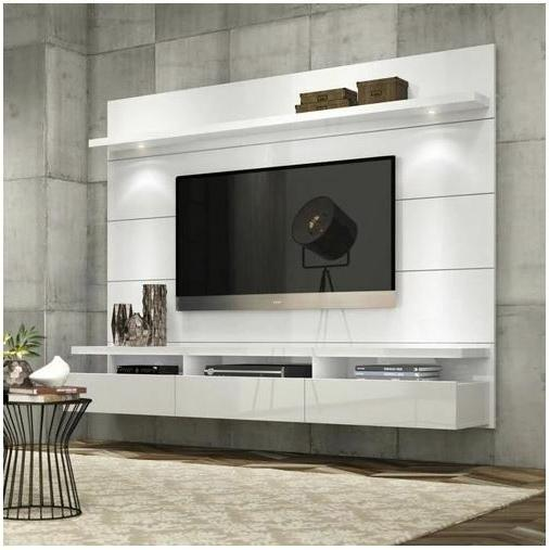 Entertainment Center Wall Unit TV Stand for Flat Screen Larg