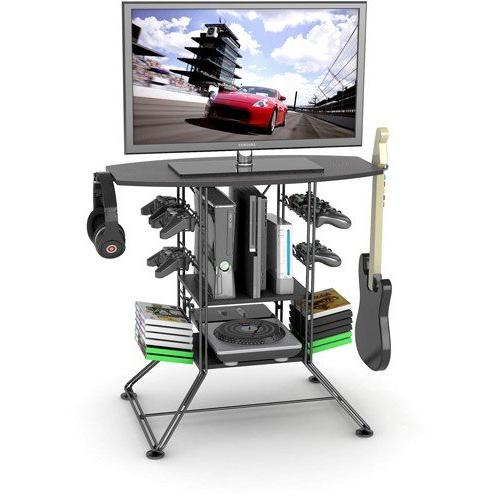 centipede black gaming and tv stand