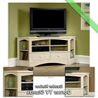 """Sauder Corner TV Stand 60"""" Console Table Stands for Flat Scr"""