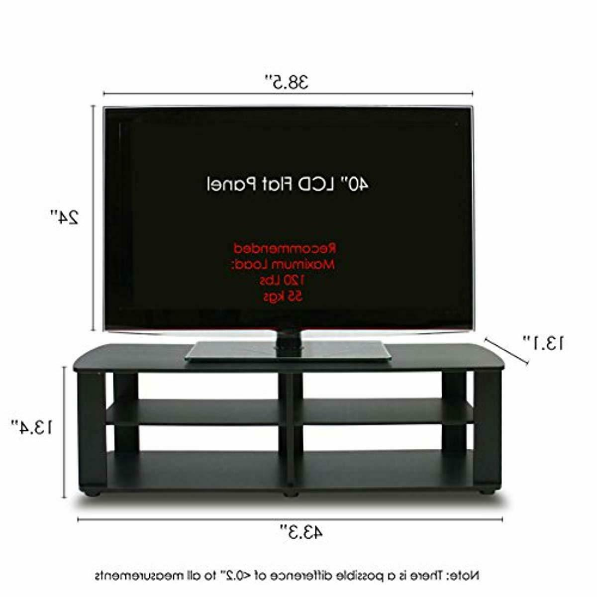 Dark Brown Stand Media Entertainment 42 Inch Flat