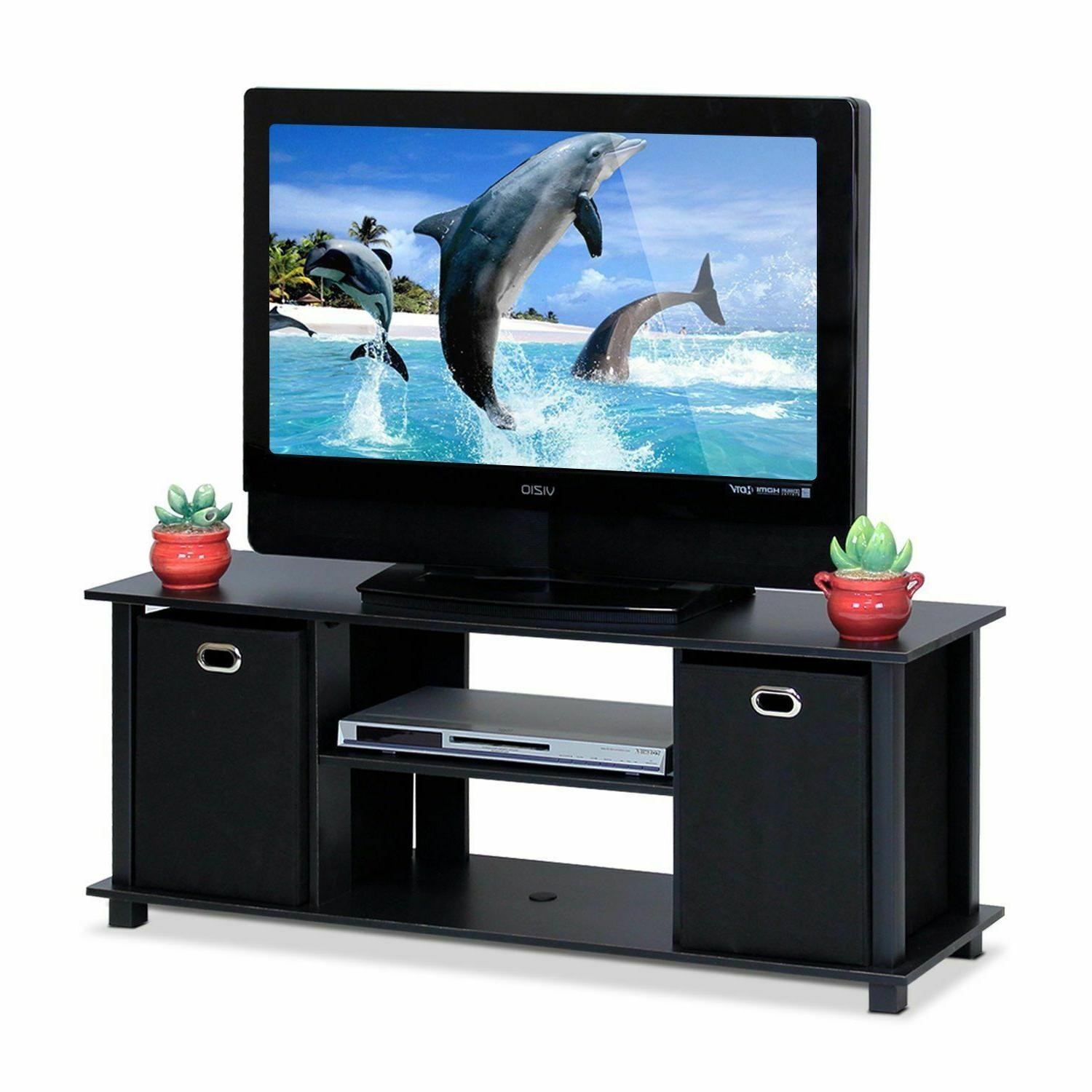 econ entertainment center with storage bins multiple