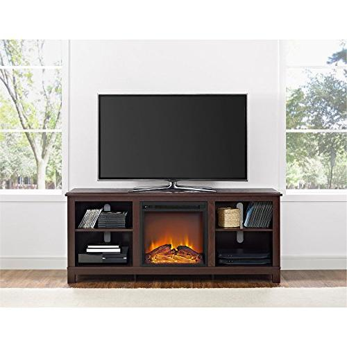 Ameriwood Home Edgewood TV Console with TVs Espresso