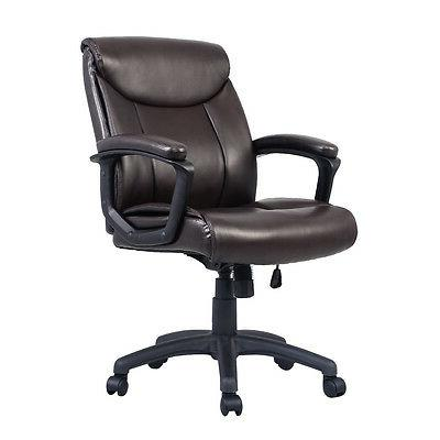 Costway Ergonomic PU Mid-Back Task Chair