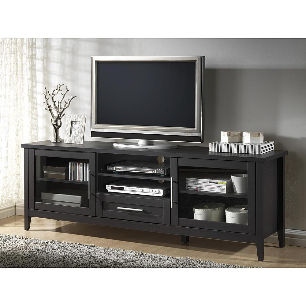 Baxton Studio Espresso Finished 2-Door 1-Drawer Entertainment Center Stand