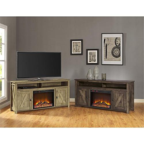 Fireplace Console TVs Natural