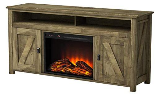 Ameriwood Fireplace Console for TVs Natural