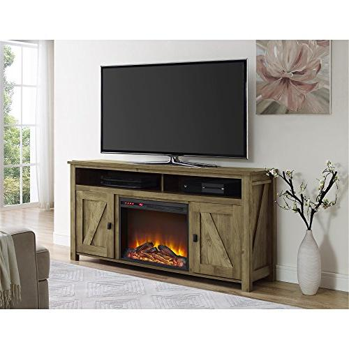 Ameriwood Home Farmington Fireplace TV Console for Natural