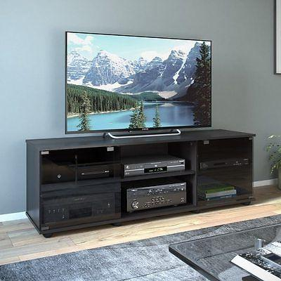 Sonax Fiji Wood Black 60 in Entertainment Center TV Componen