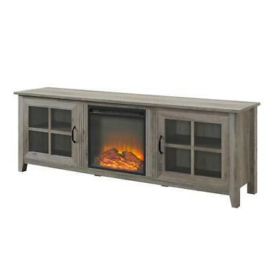 fireplace tv stand grey wash