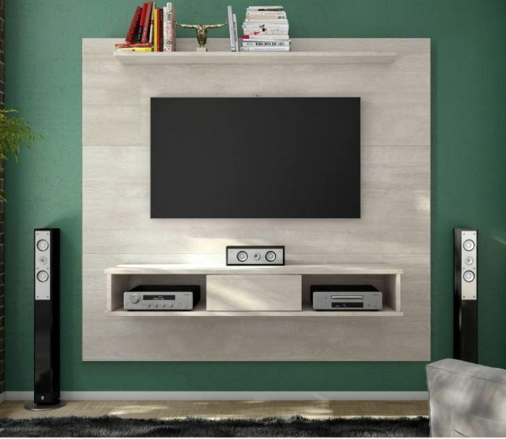 floating entertainment center rustic wall unit mount