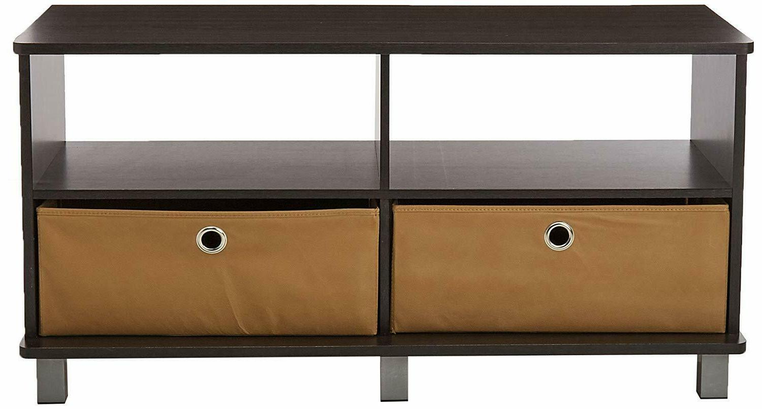 Furinno 11156GYW/BK Entertainment Center French Oak