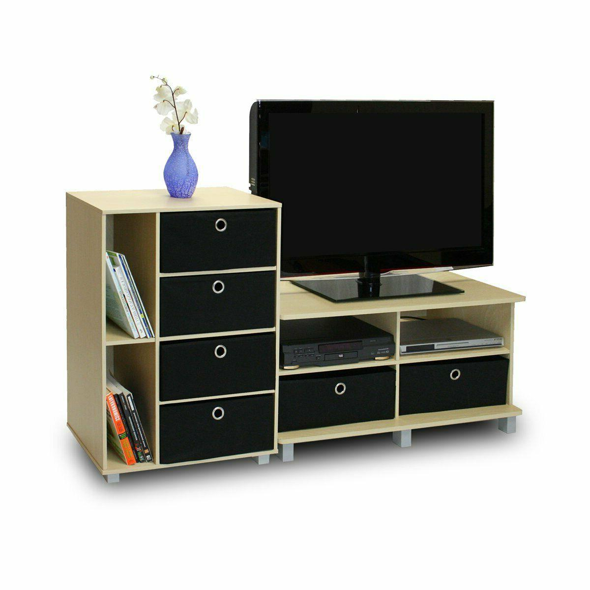 Furinno 11156GYW/BK Entertainment Center French