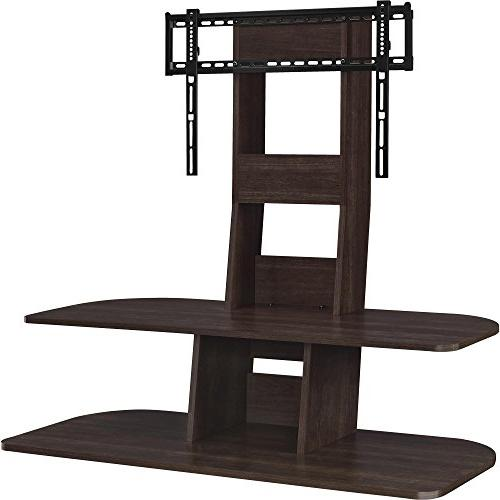 Altra Galaxy 65 Inch TV Stand with Mount, Dark Walnut