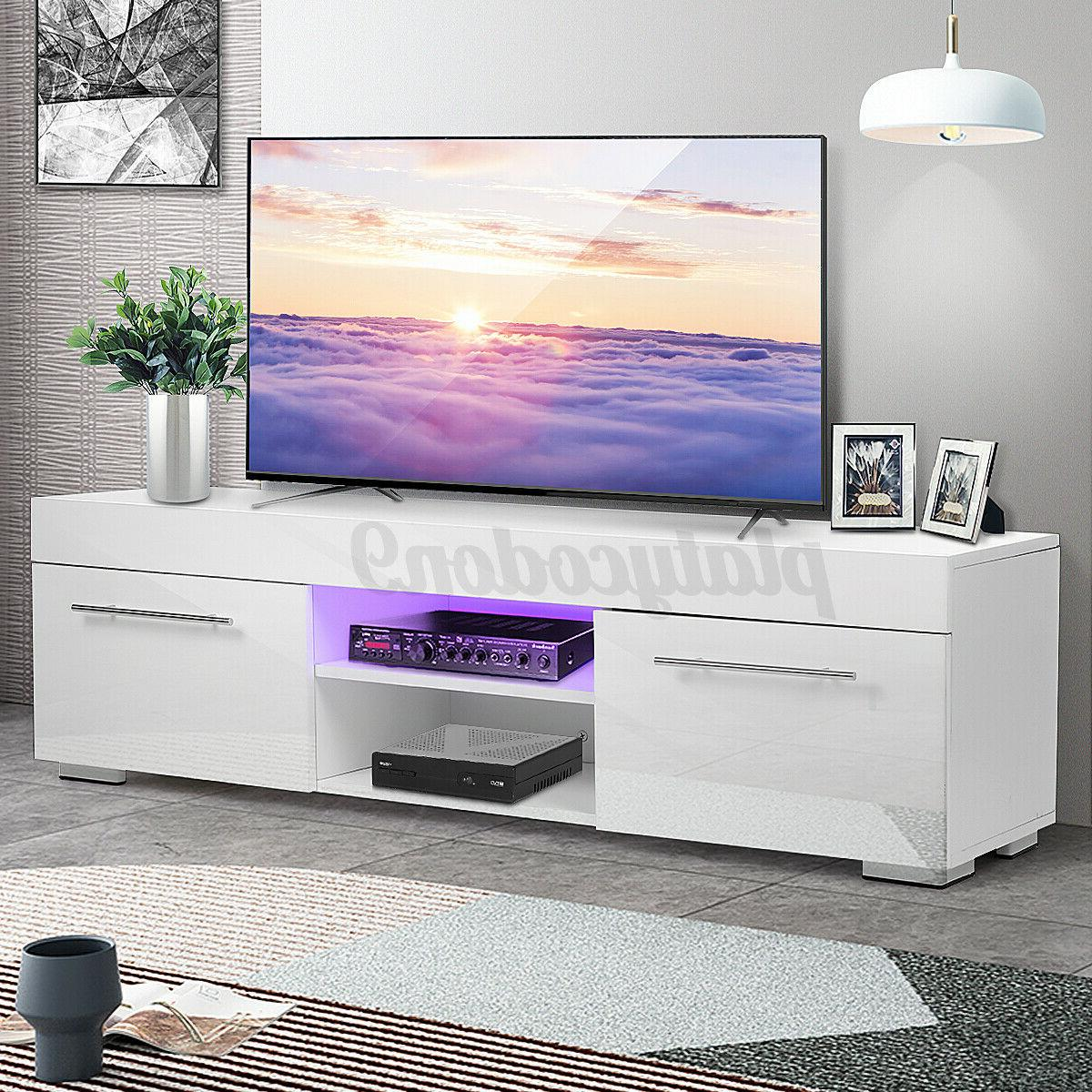 high gloss 2 drawer tv stand cabinet
