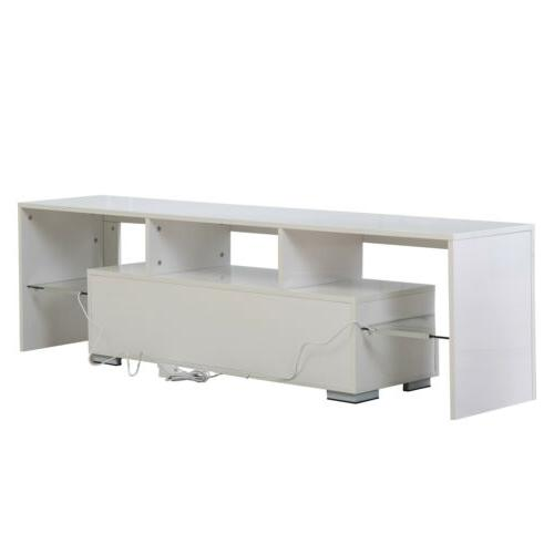 High Gloss 63'' Stand Unit Table RC LED