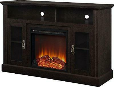 home chicago electric fireplace tv console