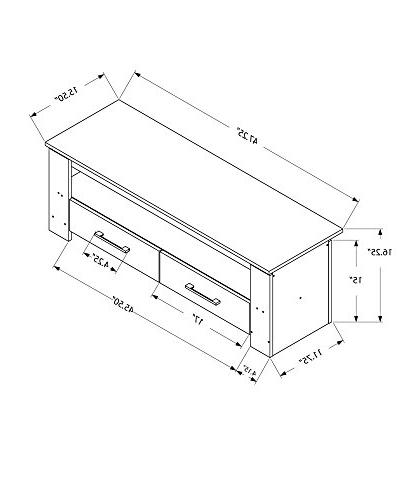 Monarch Specialties I TV STAND-48 Storage Drawers,