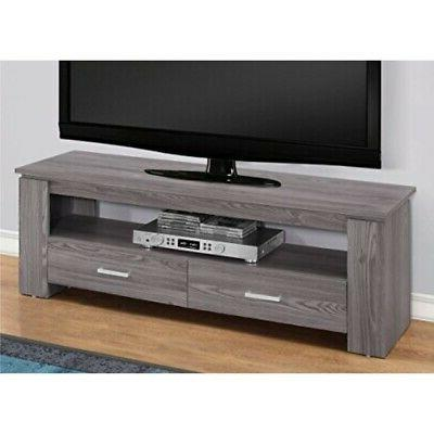 Monarch Specialties I 2603 TV STAND-48 L 2 Storage Drawers,