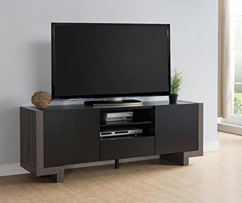 HOMES: Out IDI-161701 Multi-Storage TV Weathered Gray/Black