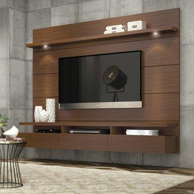 julius entertainment center nut brown