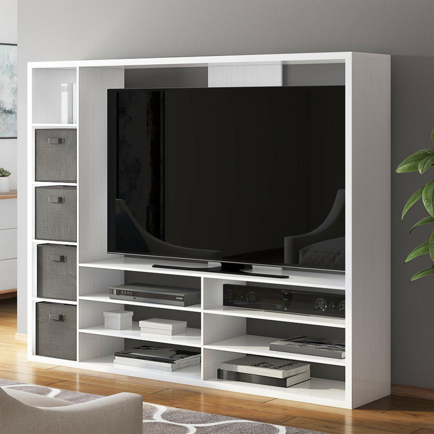 large entertainment center console for tvs stand