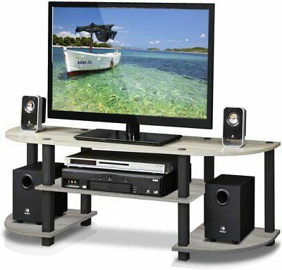TV Stand For Inch Screens Mount Entertainment Center Walnut