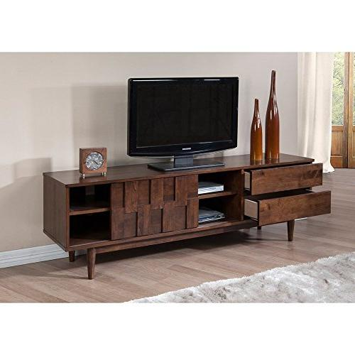 Mid Wood Media Console in Rich Drawers - Modhaus Living