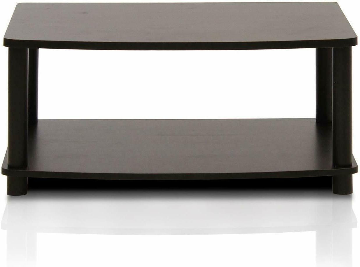 Modern Brown Coffee Table Small Wood  Storage TV Stand Livin