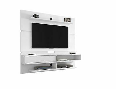 modern floating entertainment center in white id