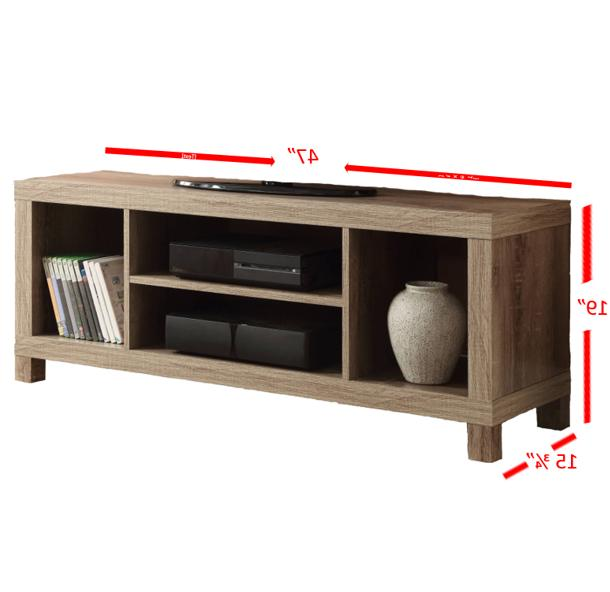 Modern TV Stand Entertainment Media Wooden Console