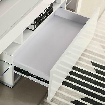 Modern TV Stand LED Entertainment Center Console