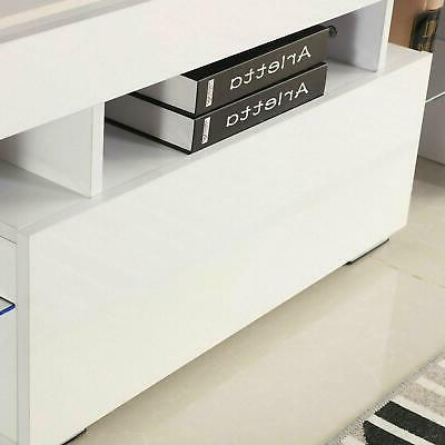 Modern TV Stand LED Console