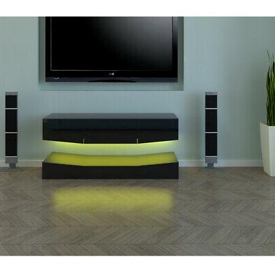 RGB LED High Gloss Floating Stand Entertainment