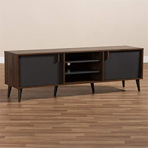 TV Stand Brown and Dark
