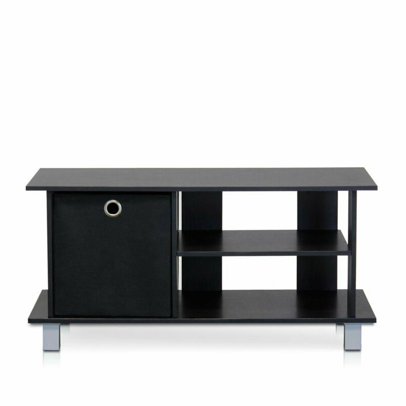 simplistic tv entertainment center with bin drawers