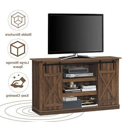 """Sliding Barn Console Up to 60"""" Center"""
