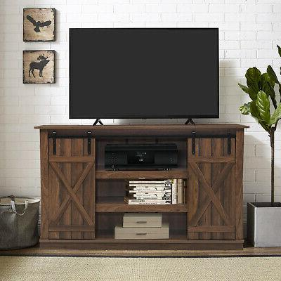 Sliding Barn Console for TV's Up Center