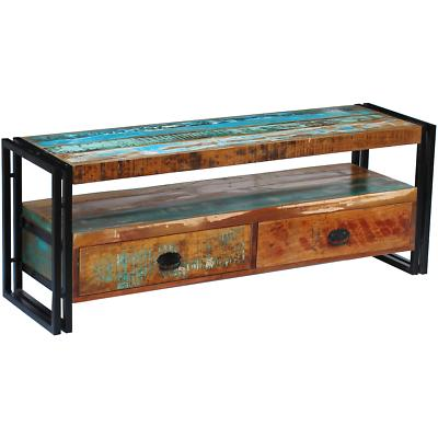 solid reclaimed wood tv stand