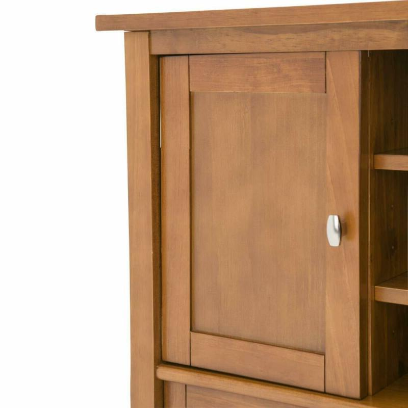 Solid Wood Entertainment Rustic Golden Brown to 50