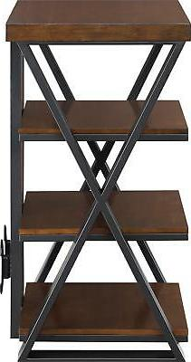 Whalen Furniture - Tower Stand Up to Brown