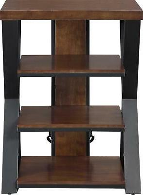"""Whalen Furniture - Tower Stand for TVs Up to 32"""" - Medium Br"""