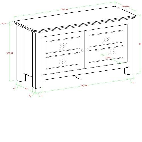 44 in. Stand Console Finish