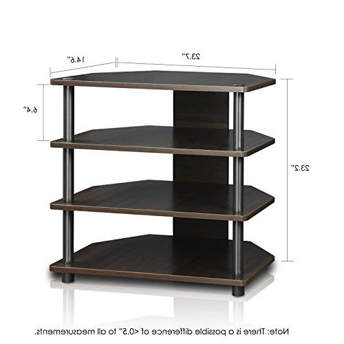 Furinno Turn-N-Tube Easy Assembly 3-Tier Stand, Espresso