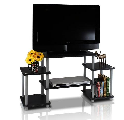 Furinno Turn-n-Tube No-Tools Entertainment Center