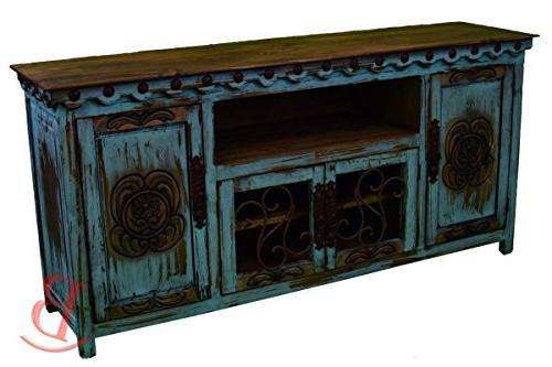 turquoise durango tv stand console