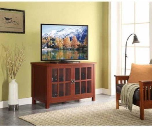 TV Doors Enclosed Media Storage Console Shelves TV's to 55