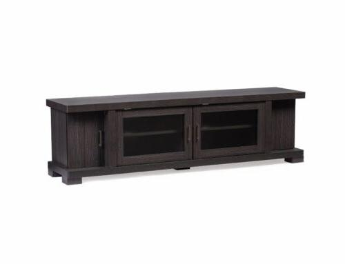 TV Unit Stand Storage Console 70 Brown