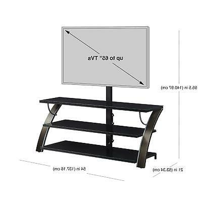 TV Stand 65 Flat Entertainment Media Console Home