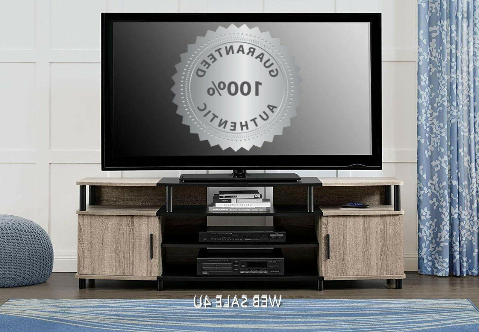 TV Stand 70 Inch Flat Screen Console Entertainment Media Cen